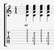 C Chord Different in Timbre